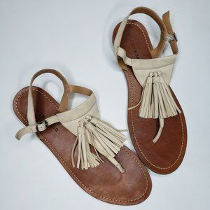 Lucky Brand | Genuine Leather Boho Fringe Sandals
